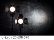 Два студийных осветителя с шторками. Стоковое фото, фотограф Виктор Колдунов / Фотобанк Лори