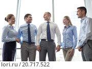 Купить «smiling businesspeople meeting in office», фото № 20717522, снято 25 октября 2014 г. (c) Syda Productions / Фотобанк Лори