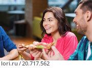 Купить «friends eating pizza with beer at restaurant», фото № 20717562, снято 8 ноября 2015 г. (c) Syda Productions / Фотобанк Лори