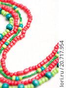 Купить «glass beads and thread beads», фото № 20717954, снято 30 сентября 2015 г. (c) Типляшина Евгения / Фотобанк Лори