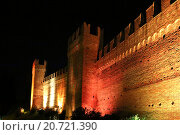 Купить «Ночной вид на замок Малатеста. Римини. Италия», фото № 20721390, снято 6 ноября 2013 г. (c) Евгений Ткачёв / Фотобанк Лори