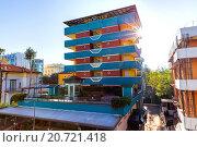 Купить «Гостиница New Clab. Римини. Италия», фото № 20721418, снято 6 ноября 2013 г. (c) Евгений Ткачёв / Фотобанк Лори
