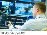 Купить «video monitoring surveillance security system», фото № 20723394, снято 17 января 2016 г. (c) Дмитрий Калиновский / Фотобанк Лори