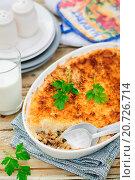 Купить «Hachis Parmentier -французская версия картофельной запеканки с мясом», фото № 20726714, снято 28 августа 2014 г. (c) Татьяна Ворона / Фотобанк Лори