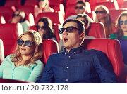 Купить «friends watching horror movie in 3d theater», фото № 20732178, снято 19 января 2015 г. (c) Syda Productions / Фотобанк Лори