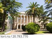 Столица Абхазии город Сухум. Дворец президента Абхазии (2015 год). Стоковое фото, фотограф Михаил Ворожцов / Фотобанк Лори