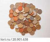 Купить «Pound coins», фото № 20901638, снято 22 июля 2019 г. (c) PantherMedia / Фотобанк Лори