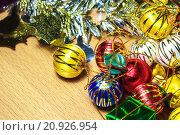 Купить «Christmas or New Year background», фото № 20926954, снято 22 марта 2019 г. (c) PantherMedia / Фотобанк Лори