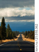 Купить «Rural State Highway Route 139, Modoc County, California.», фото № 21010362, снято 5 ноября 2009 г. (c) age Fotostock / Фотобанк Лори