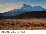 Купить «Mount Shast and high meadow in Siskiyou County, California.», фото № 21010462, снято 7 ноября 2009 г. (c) age Fotostock / Фотобанк Лори