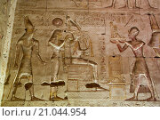 Купить «Bas-relief of Ramses III Giving an Offering to Osiris, Temple of Seti I, Abydos, Egypt», фото № 21044954, снято 7 апреля 2015 г. (c) age Fotostock / Фотобанк Лори