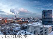 Зимний пейзаж Москвы (2016 год). Стоковое фото, фотограф Сергей Алимов / Фотобанк Лори