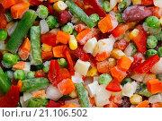 Купить «Замороженные овощи. Мексиканская смесь», фото № 21106502, снято 23 января 2016 г. (c) Мальцев Артур / Фотобанк Лори