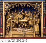 Купить «Georgsaltar, Meister Arnt von Kalkar Arnt von Zwolle 1484, Martyrium des heiligen Erasmus», фото № 21206246, снято 22 октября 2018 г. (c) age Fotostock / Фотобанк Лори