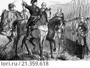 Купить «Frederick the Great Addressing troops before the Battle of Leuthen on 5th December 1757,. In which he defeated the Austrian Army..», фото № 21359618, снято 14 мая 2012 г. (c) age Fotostock / Фотобанк Лори