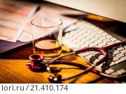Купить «Alcohol and medicine.», фото № 21410174, снято 5 ноября 2015 г. (c) age Fotostock / Фотобанк Лори