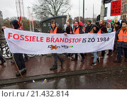 Купить «Several thousand protesters demonstrated today (29 nov 2015) in Amsterdam against the current climate policy. Next week, the international climate summit begins in Paris.», фото № 21432814, снято 29 ноября 2015 г. (c) age Fotostock / Фотобанк Лори