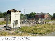 Купить «Briarswood Village, housing building site near Warrington Cheshire UK.», фото № 21437162, снято 21 апреля 2019 г. (c) age Fotostock / Фотобанк Лори