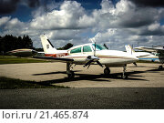 Купить «Cessna 162 twin-engined civil aircraft.», фото № 21465874, снято 10 июля 2006 г. (c) age Fotostock / Фотобанк Лори