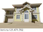 Визуализация желтого жилого дома. Стоковая иллюстрация, иллюстратор Elizaveta Kharicheva / Фотобанк Лори