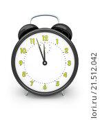 Купить «An image of a black alarm clock isolated on white», фото № 21512042, снято 13 мая 2014 г. (c) easy Fotostock / Фотобанк Лори