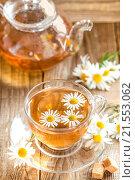 Купить «Chamomile tea», фото № 21553062, снято 3 июля 2014 г. (c) easy Fotostock / Фотобанк Лори