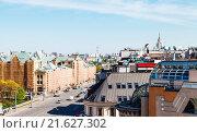 Купить «above view of Lubyanskaya Square in Moscow», фото № 21627302, снято 24 сентября 2018 г. (c) easy Fotostock / Фотобанк Лори