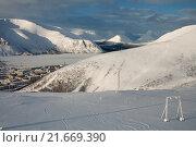 Купить «Хибины, зимний пейзаж», фото № 21669390, снято 20 февраля 2014 г. (c) Юлия Бабкина / Фотобанк Лори