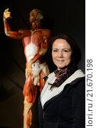 Berlin, Germany, Angelina Whalley, wife Gunther von Hagens (2015 год). Редакционное фото, агентство Caro Photoagency / Фотобанк Лори