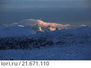 Купить «Krippenbrunn, Austria, Alpine panorama at sunrise», фото № 21671110, снято 3 февраля 2015 г. (c) Caro Photoagency / Фотобанк Лори