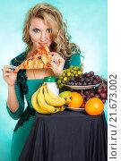 Купить «Gluttony (Gula) is one of Seven Deadly Sins», фото № 21673002, снято 30 января 2016 г. (c) Art Konovalov / Фотобанк Лори