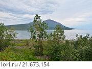 Купить «Путорана. Озеро Глубокое, гора Сундук», фото № 21673154, снято 26 июля 2015 г. (c) Сергей Дрозд / Фотобанк Лори