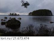 Купить «Lessebo, Sweden, the Rottnen lake at twilight», фото № 21673474, снято 11 апреля 2014 г. (c) Caro Photoagency / Фотобанк Лори
