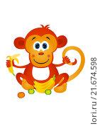 Купить «Мартышка, рисунок», иллюстрация № 21674598 (c) Neta / Фотобанк Лори