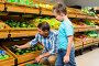 Father and son doing shopping, фото № 21675894, снято 15 апреля 2015 г. (c) Wavebreak Media / Фотобанк Лори