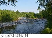 Река Солзан. Стоковое фото, фотограф Виталий Балакин / Фотобанк Лори