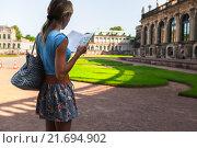 Турист в Дрездене (2013 год). Стоковое фото, фотограф Михаил Дударев / Фотобанк Лори