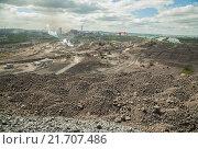 Панорама промышленного города. Стоковое фото, фотограф Дмитрий Рухмалев / Фотобанк Лори
