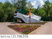 Купить «Памятник Переправа в городе Аксае», фото № 21708018, снято 2 июня 2015 г. (c) Борис Панасюк / Фотобанк Лори
