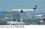 Купить «Airbus 321 approaching», видеоролик № 21708878, снято 4 сентября 2015 г. (c) Игорь Жоров / Фотобанк Лори