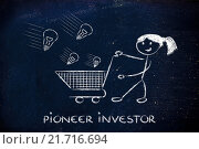 Купить «investor capitalist, selecting ideas and start-ups to invest on», фото № 21716694, снято 19 июня 2018 г. (c) PantherMedia / Фотобанк Лори