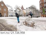 Купить «Flensburg, Germany, Flensburg in winter», фото № 21726958, снято 24 января 2015 г. (c) Caro Photoagency / Фотобанк Лори
