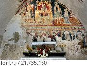 Купить «Bale, Croatia, frescoes by Master Albert from Konstanz», фото № 21735150, снято 21 июля 2015 г. (c) Caro Photoagency / Фотобанк Лори