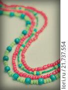 Купить «Colored glass beads», фото № 21737554, снято 30 сентября 2015 г. (c) Типляшина Евгения / Фотобанк Лори