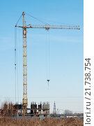 Купить «Начало строительства нового квартала в городе Тула», эксклюзивное фото № 21738754, снято 4 февраля 2016 г. (c) Игорь Низов / Фотобанк Лори