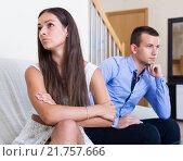 Quarrel between husband and wife. Стоковое фото, фотограф Яков Филимонов / Фотобанк Лори