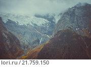 Туман и снег в горах. Стоковое фото, фотограф Иванов Александр Сергеевич / Фотобанк Лори