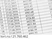 Купить «График платежей кредитного договора», эксклюзивное фото № 21760462, снято 8 февраля 2016 г. (c) Игорь Низов / Фотобанк Лори