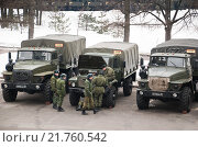Купить «Армейские автомобили внутренних войск», эксклюзивное фото № 21760542, снято 3 марта 2012 г. (c) Алёшина Оксана / Фотобанк Лори