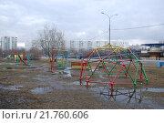 Купить «Детская площадка ранней весной. Северное Чертаново. Москва», фото № 21760606, снято 15 марта 2008 г. (c) Екатерина Овсянникова / Фотобанк Лори
